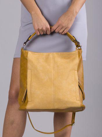 Żółta torba z ekoskóry