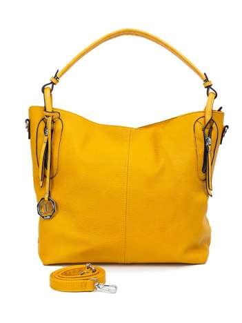 Żółta torebka na ramię z ekoskóry