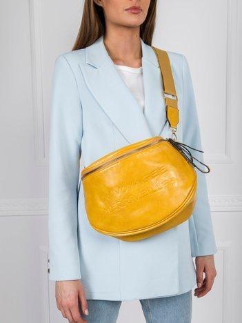Żółta torebka z suwakiem