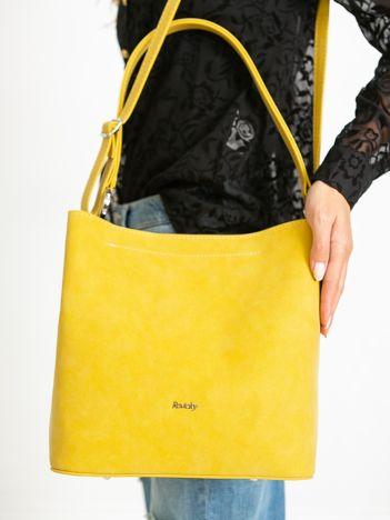 Żółta torebka ze skóry