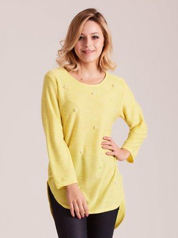 Żółta tunika z perełkami