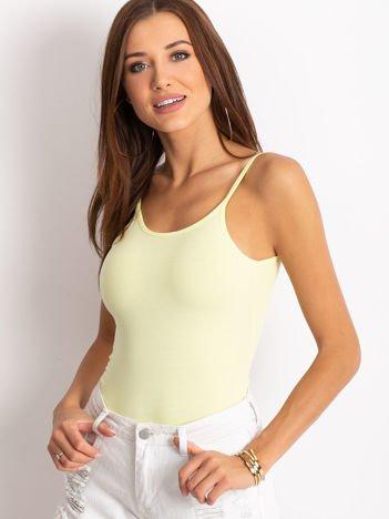 Żółte body na cienkich ramiączkach