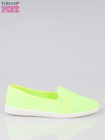 Żółte lekkie buty sliponki