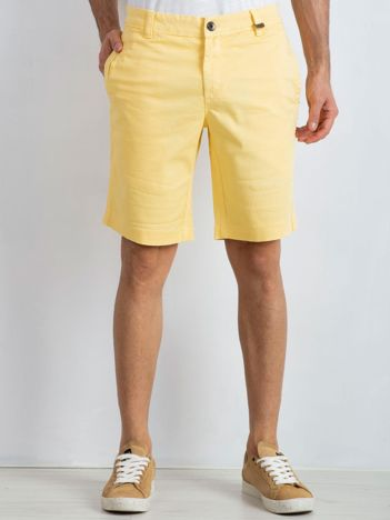 Żółte spodenki męskie Wayne
