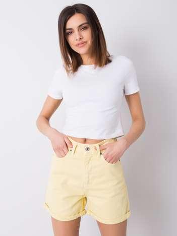 Żółte szorty jeansowe Sloane RUE PARIS