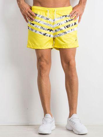 Żółte szorty męskie Travis