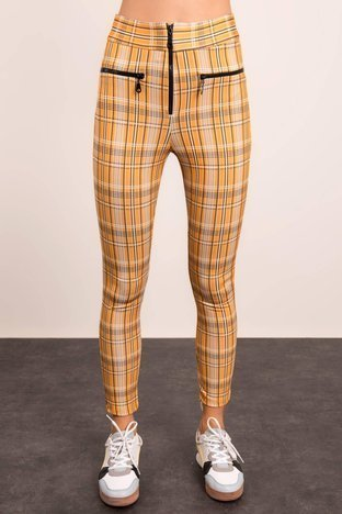 Żółto-beżowe spodnie BSL
