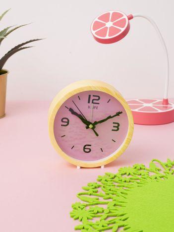 Żółto-różowy zegar stołowy