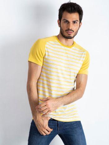 Żółto-szary t-shirt męski Future