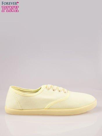 Żółtozielone tenisówki damskie