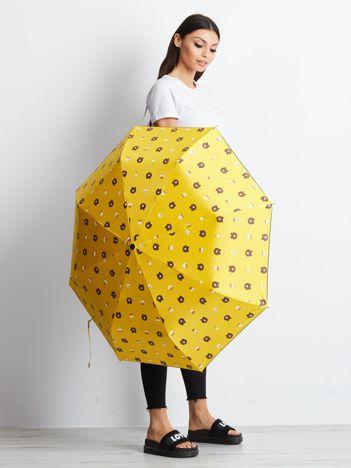 Żółty mały parasol
