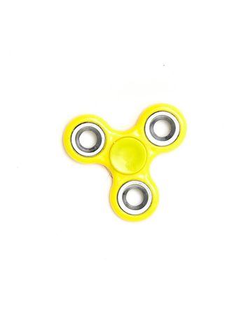 Żółty metalowy hand fidget spinner