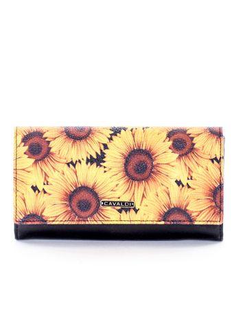 Żółty portfel w słoneczniki