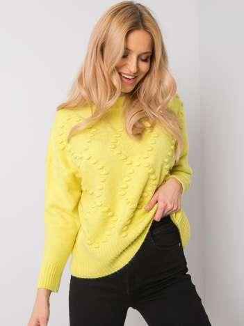 Żółty sweter Justina RUE PARIS
