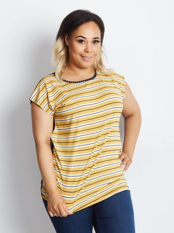 Żółty t-shirt plus size Balanced