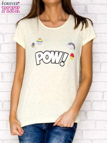Żółty t-shirt z napisem POW