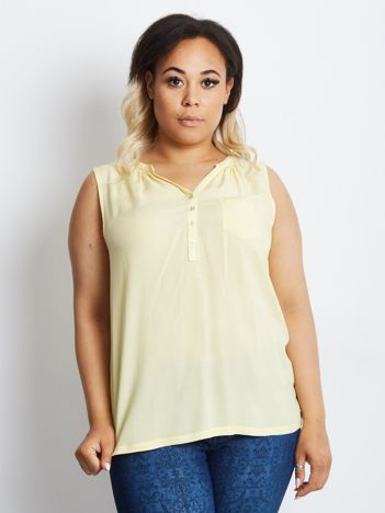 Żółty top PLUS SIZE Impeccable