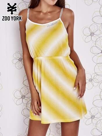 Żółty top na cienkich ramiączkach
