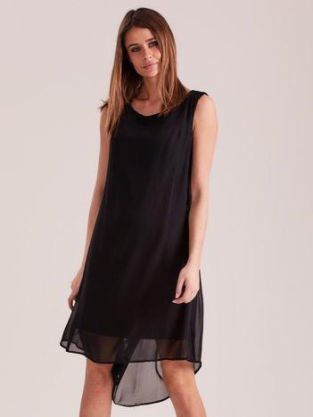 Zwiewna sukienka czarna PLUS SIZE