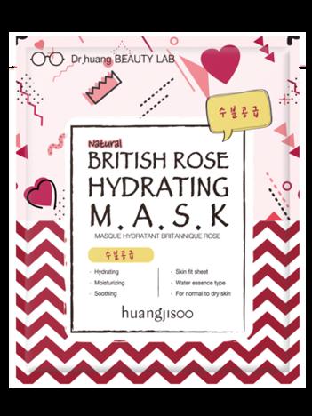 huangjisoo British Rose Hydrating Mask Naturalna koreańska maska nawilżająca w płachcie 32 g