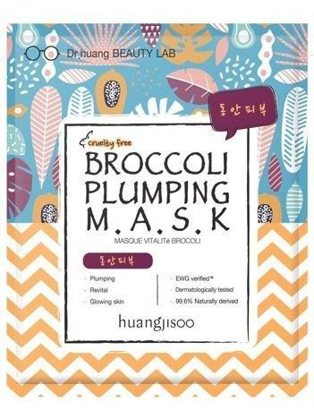huangjisoo Broccoli Plumping Mask Naturalna koreańska ujędrniająca maska do twarzy w płachcie 32 g
