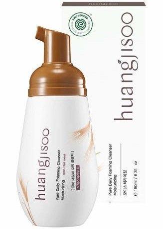 huangjisoo Pure Daily Foaming Cleanser Moisturizing Naturalna hipoalergiczna koreńska pianka myjąca do twarzy nawilżająca 180 ml