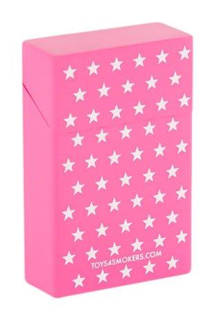 toys4smokers Etui silikonowe na papierosy PINK STARS