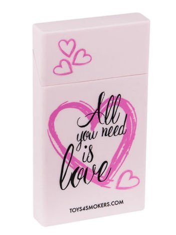 toys4smokers SLIM/Etui silikonowe na papierosy-All you need is love