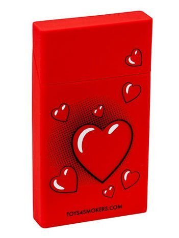 toys4smokers SLIM/Etui silikonowe na papierosy -Red heart