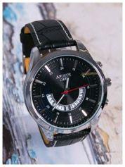 AMBER TIME Nowoczesny i duży męski zegarek z ozdobnym chronografem na tarczy.