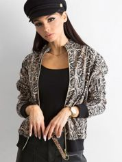 Beżowa bluza w zwierzęce wzory
