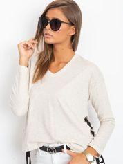 Beżowa bluzka damska