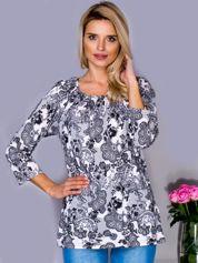 Beżowa bluzka w koronkowe wzory