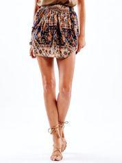 Beżowa spódnica w etniczne desenie