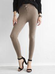 Beżowe sztruksowe legginsy