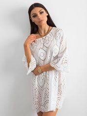 Biała ażurowa sukienka