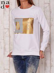 Biała bluza z napisem YES NOW
