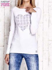 Biała bluzka z materiałową wstawką