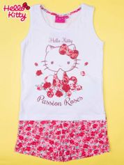 Biała piżama dla dziewczynki z różanymi motywami HELLO KITTY