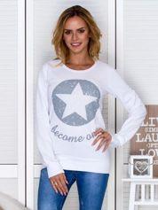 Bluza damska z gwiazdą biała