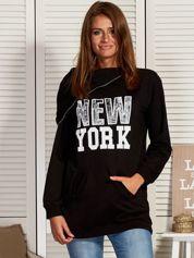 Bluza damska z motywem Nowego Jorku czarna
