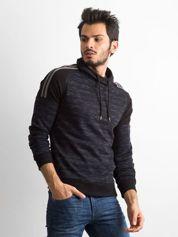 Bluza męska z troczkami czarna