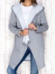 Bluza z kapturem szara melanżowa