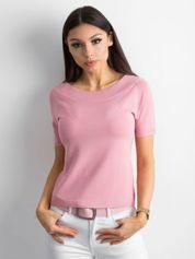 Bluzka z krótkim rękawem różowa