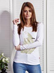 Bluzka z nadrukiem dziewczyny biała