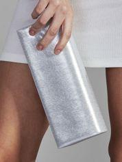 Błyszcząca kopertówka z lustrem srebrna