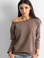 Brązowa bluzka z bawełny