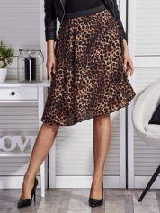 Brązowa spódnica we wzór panterki