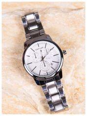CAFUER -Klasyka i elegancja srebrny męski zegarek na bransolecie WATER RESISTANT