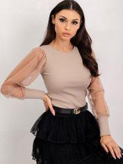 Ciemnobeżowa bluzka Cynthia